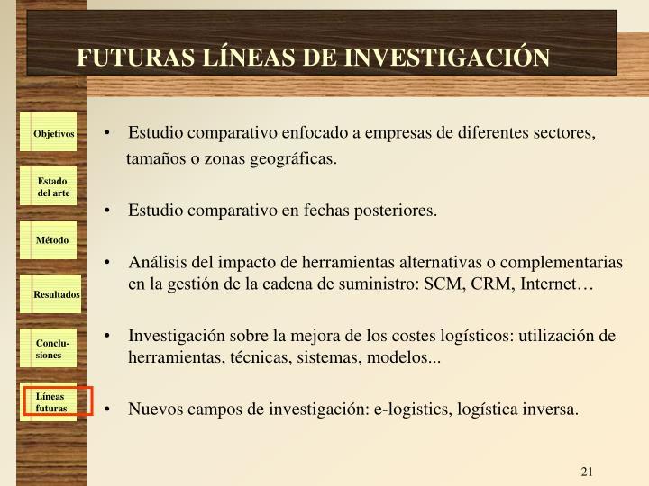 FUTURAS LÍNEAS DE INVESTIGACIÓN