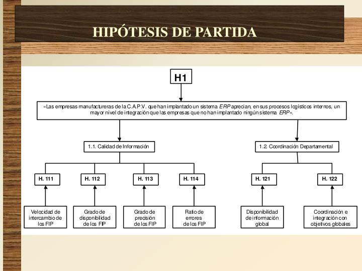HIPÓTESIS DE PARTIDA