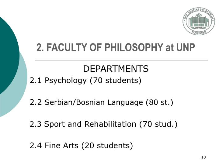 2. FACULTY OF PHILOSOPHY at UNP