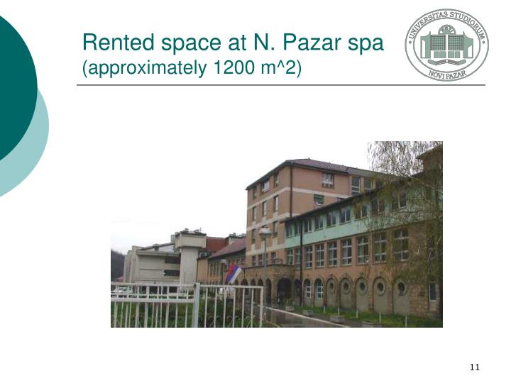 Rented space at N. Pazar spa