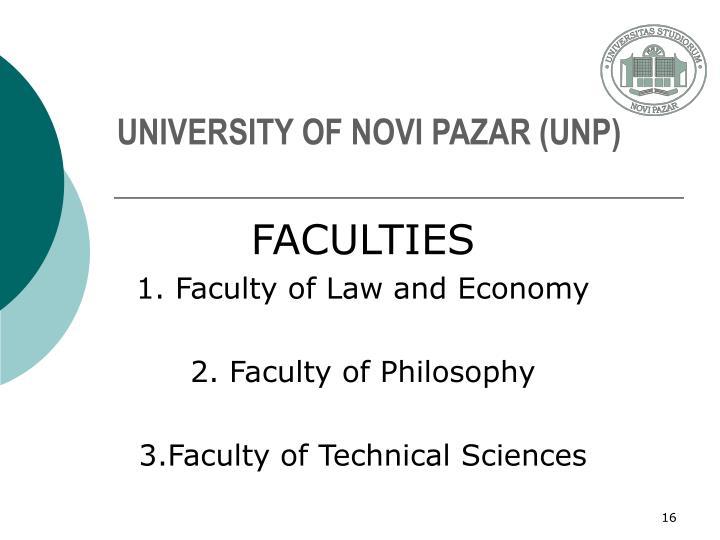 UNIVERSITY OF NOVI PAZAR