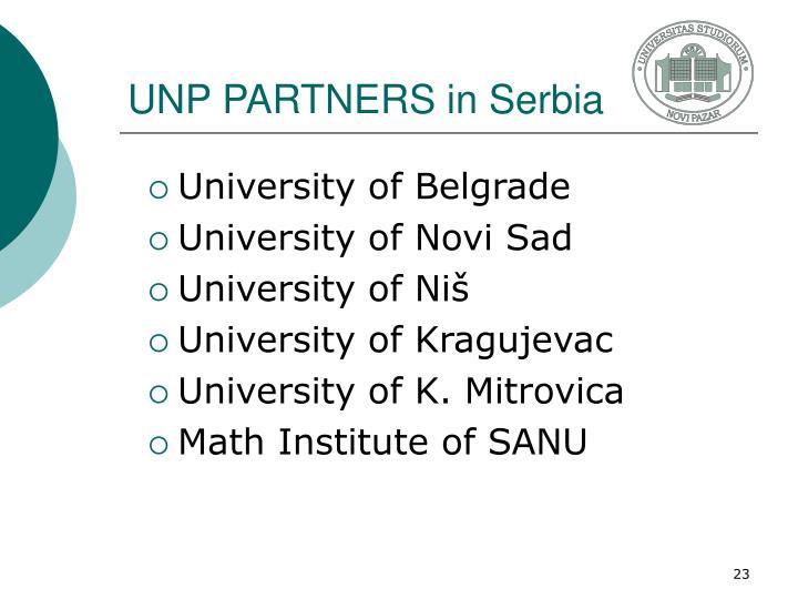 UNP PARTNERS in Serbia