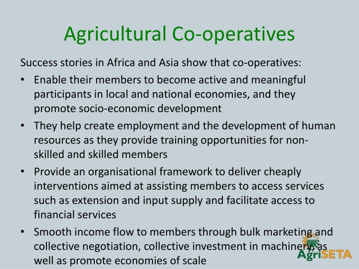 Agricultural Co-operatives