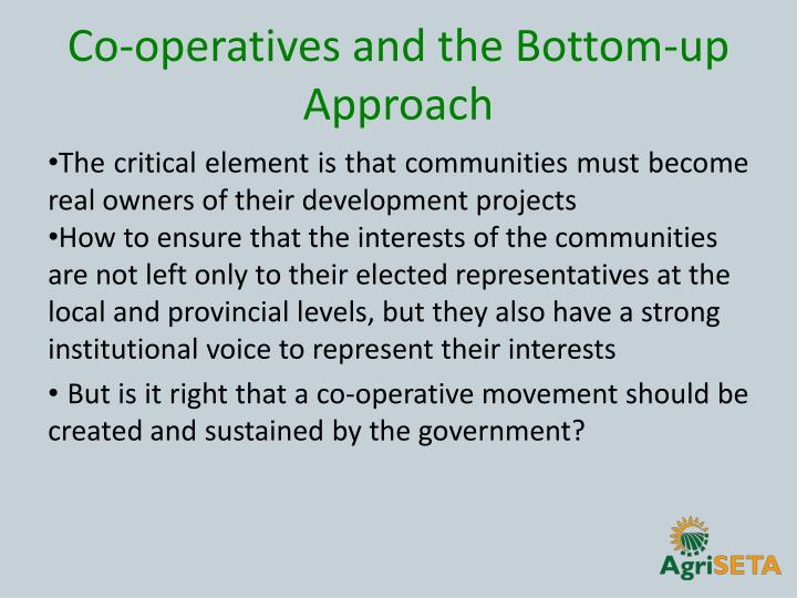 Co-operatives and the Bottom-up Approach