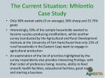 the current situation mhlontlo case study5