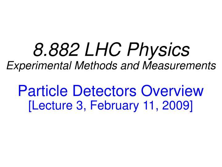 8.882 LHC Physics