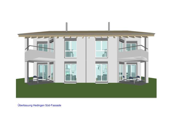 Überbauung Hedingen Süd-Fassade