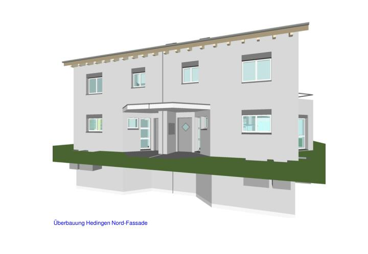 Überbauung Hedingen Nord-Fassade