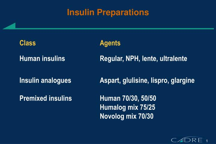 Insulin Preparations