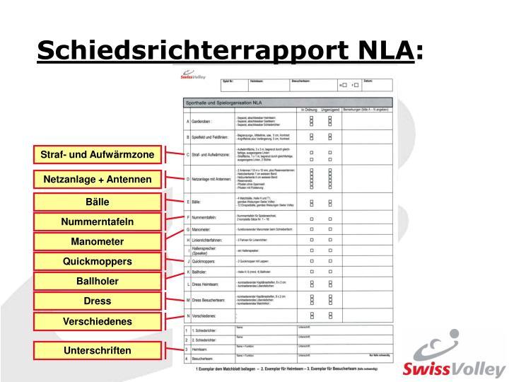 Schiedsrichterrapport NLA