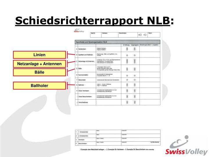 Schiedsrichterrapport NLB