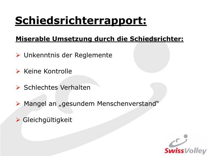 Schiedsrichterrapport: