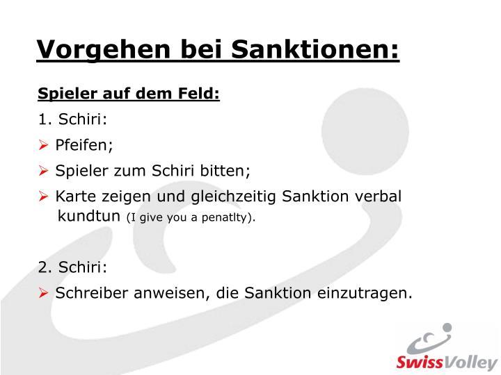 Vorgehen bei Sanktionen: