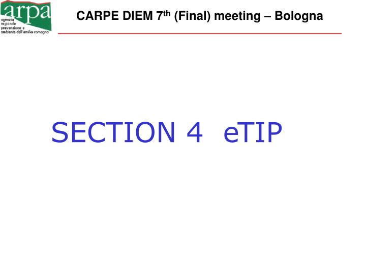 SECTION 4  eTIP