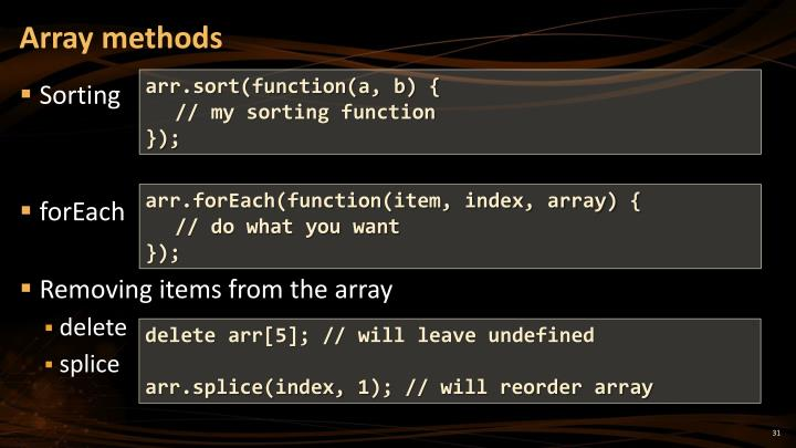 Array methods
