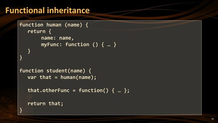 Functional inheritance