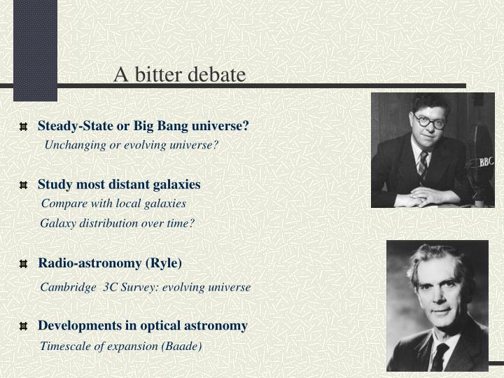 A bitter debate