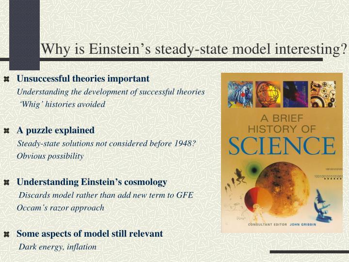 Why is Einstein's steady-state model interesting?