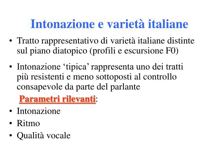 Intonazione e varietà italiane