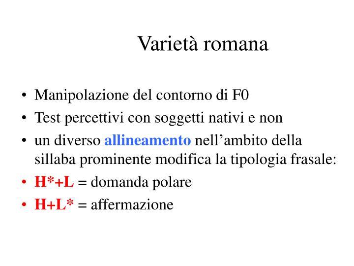 Varietà romana