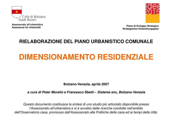 Assessorato all'urbanistica