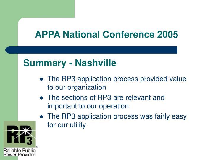 Summary - Nashville