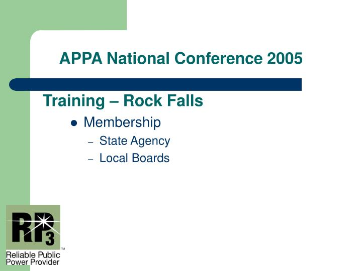Training – Rock Falls