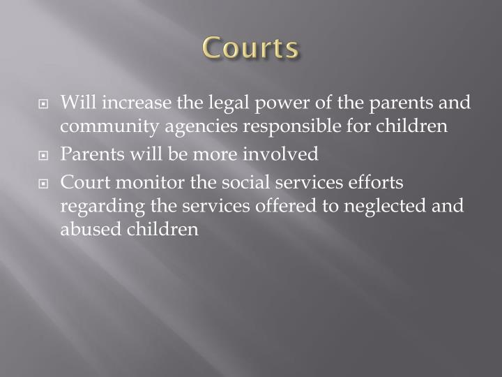 Future of the juvenile justice system proposal and presentation