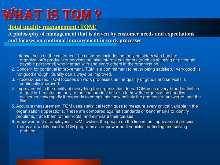 What is TQM ?