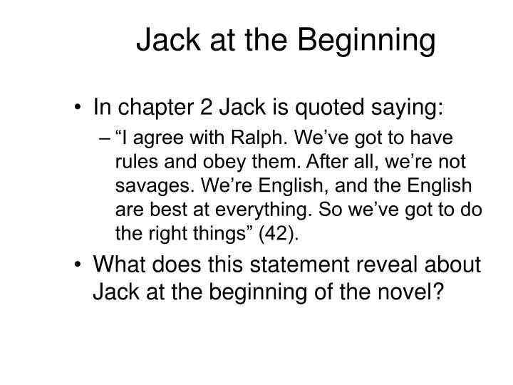 Jack at the Beginning