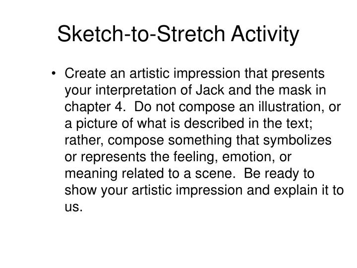 Sketch-to-Stretch Activity