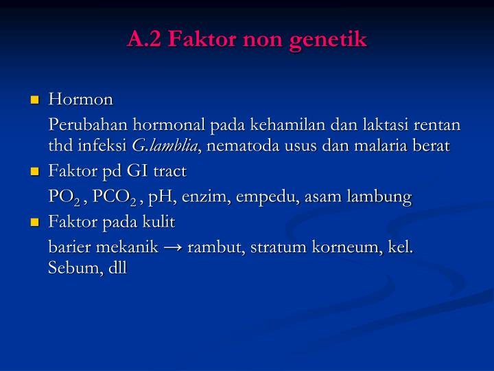 A.2 Faktor non genetik