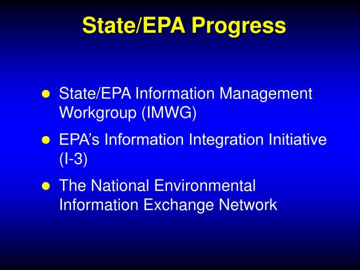 State/EPA Progress