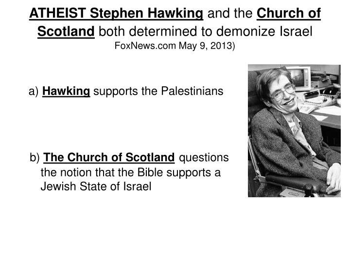 ATHEIST Stephen Hawking