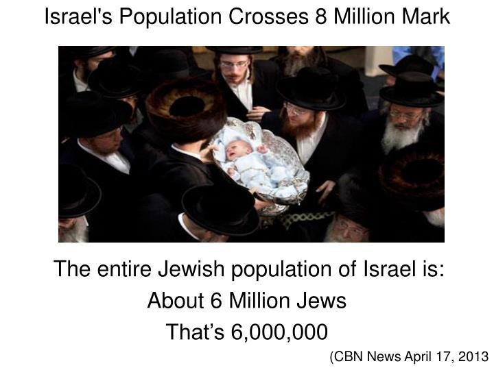 Israel's Population Crosses 8 Million Mark