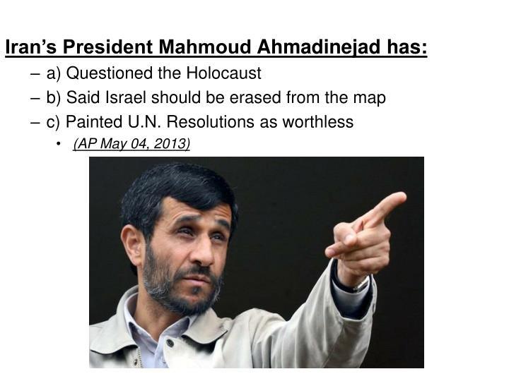 Iran's President Mahmoud
