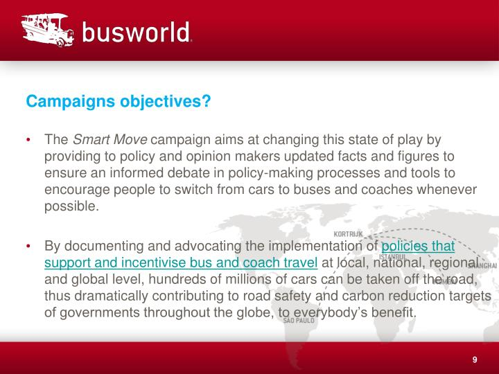 Campaigns objectives?