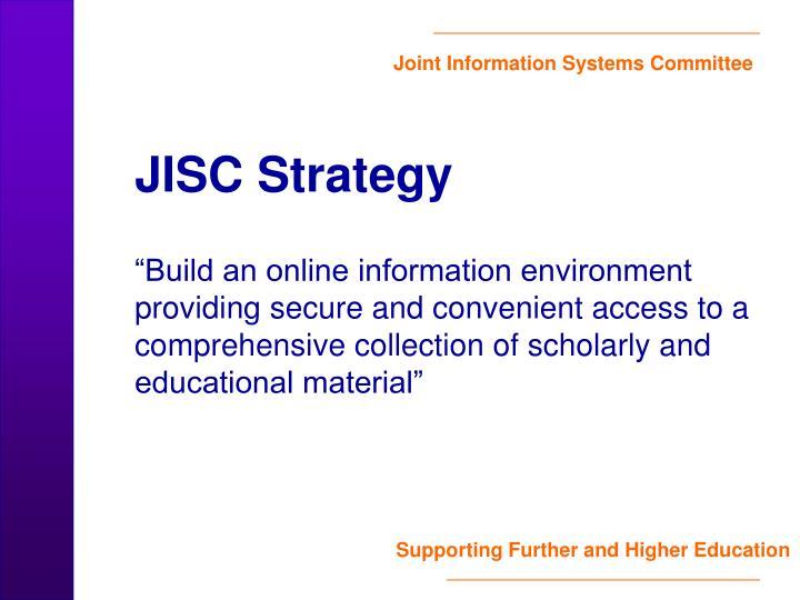 JISC Strategy