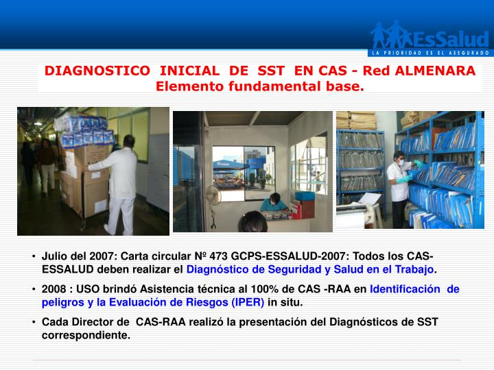 DIAGNOSTICO  INICIAL  DE  SST  EN CAS - Red ALMENARA