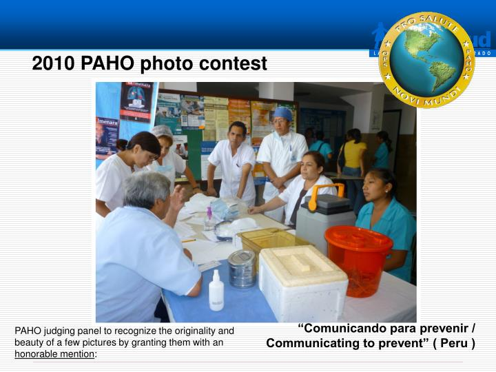 2010 PAHO photo contest