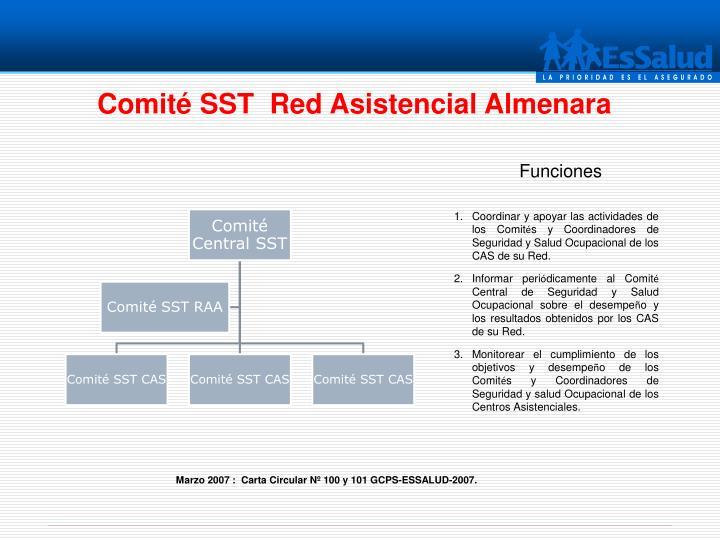 Comité SST  Red Asistencial Almenara