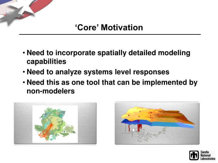 'Core' Motivation