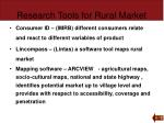 research tools for rural market1