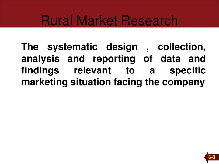 Rural market research
