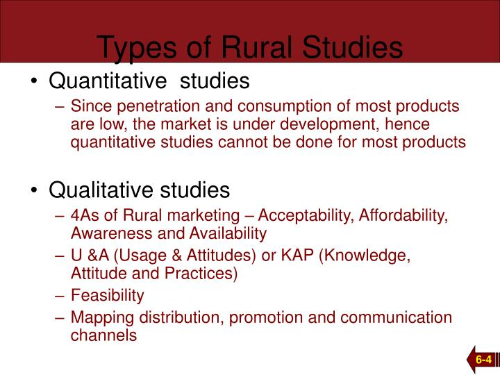 Types of Rural Studies