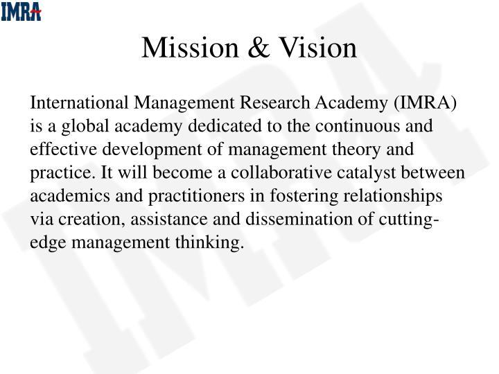Mission & Vision