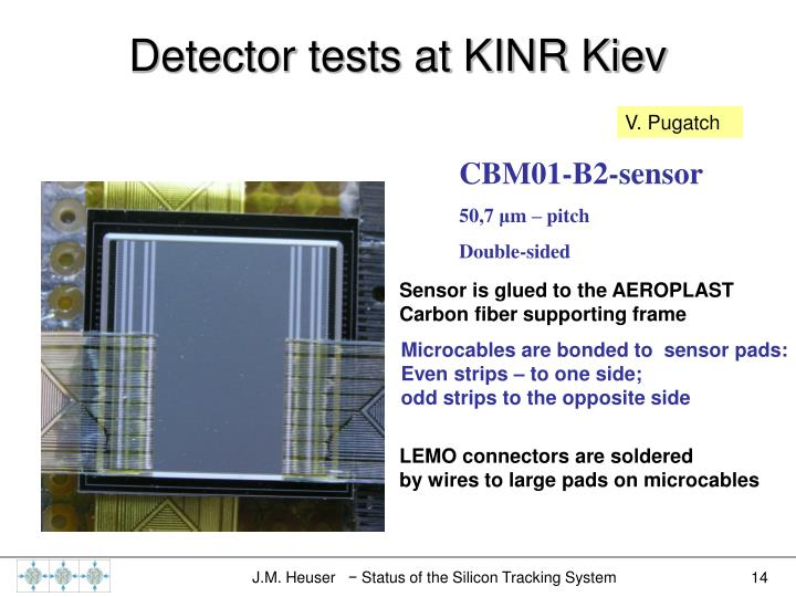 Detector tests at KINR Kiev