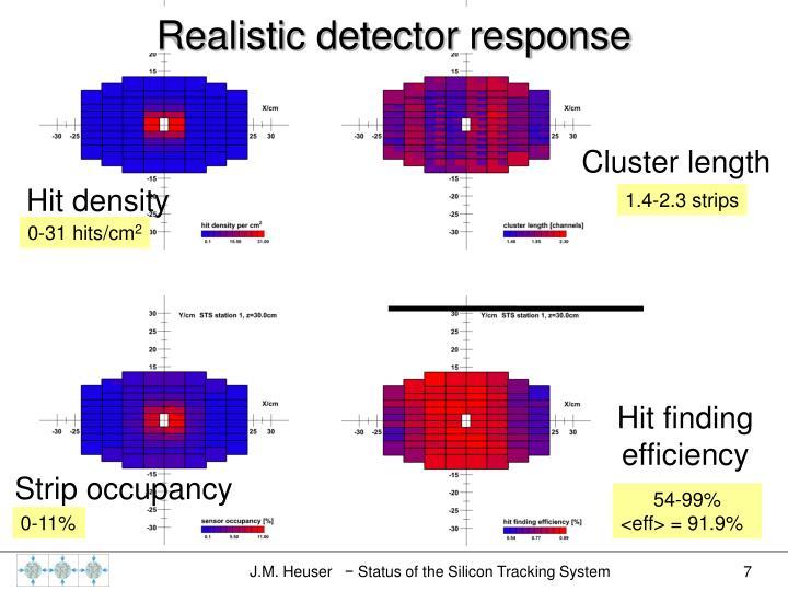 Realistic detector response
