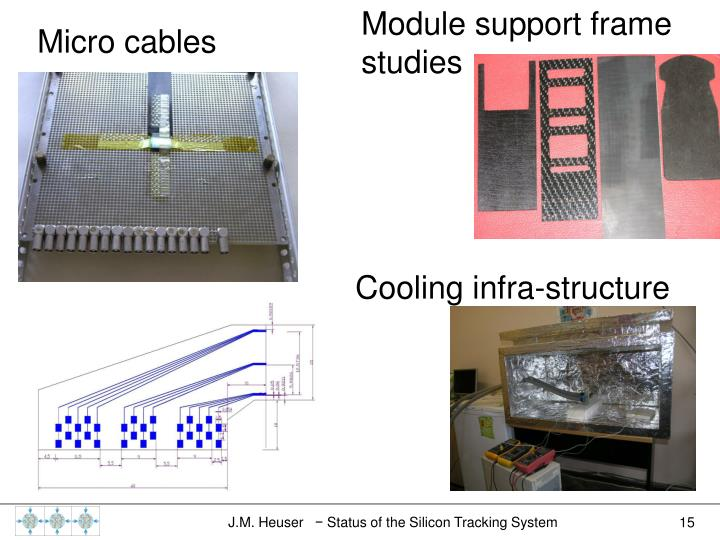 Module support frame studies