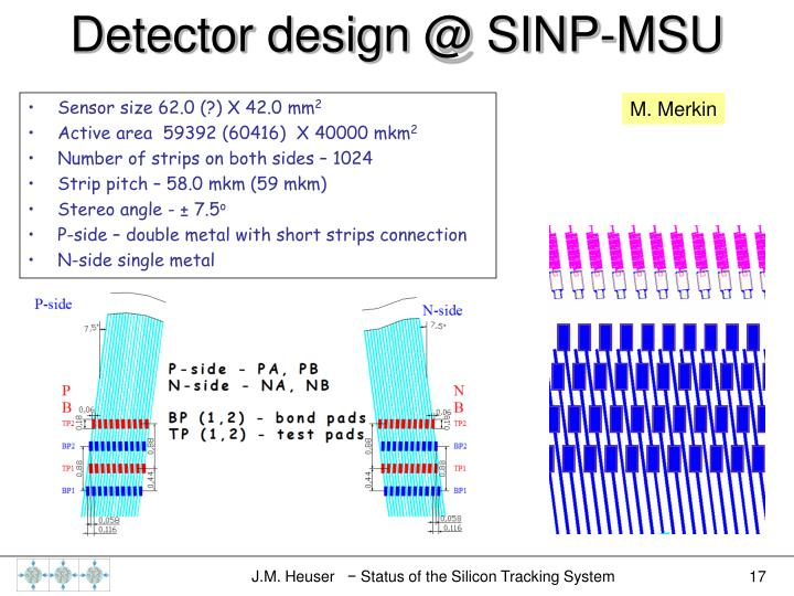 Detector design @ SINP-MSU